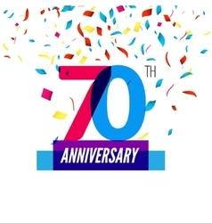 Anniversary design 70th icon anniversary vector image vector image