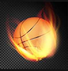 basketball ball realistic orange vector image