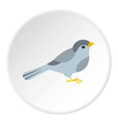 bird icon circle vector image vector image