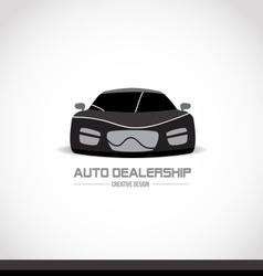 Black and white car logo design vector