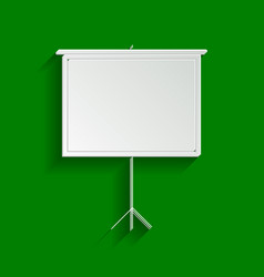 Blank projection screen paper whitish vector
