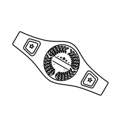 Boxing belt isolated icon vector
