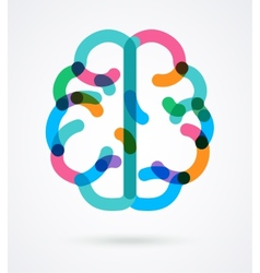 Brain - colorful vector image