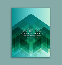 Business magazine cover page with abstract shapes vector