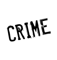 Crime rubber stamp vector