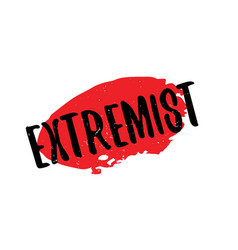 Extremist rubber stamp vector