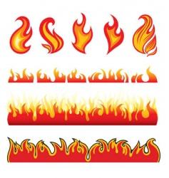 Fire design elements vector