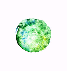 green watercolor blob vector image