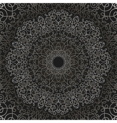 Grey circle lace ornament vector