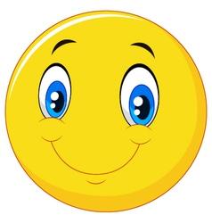 Happy smile emoticon on white background vector