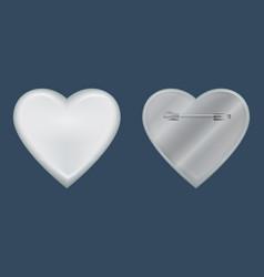 Heart badge mockup realistic style vector