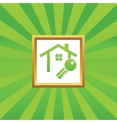 House key picture icon vector