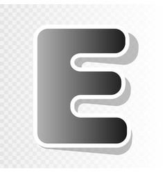 letter e sign design template element new vector image vector image