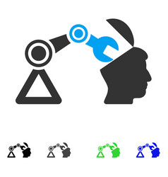 Open head surgery manipulator flat icon vector