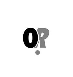 or o r black white grey alphabet letter logo icon vector image vector image