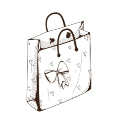 Package bag for present vector image