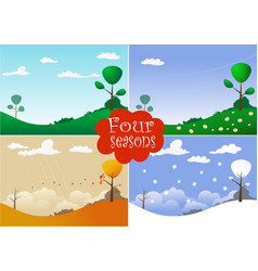 Picture with four seasons vector