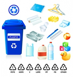 Plastic re-cycle waste vector