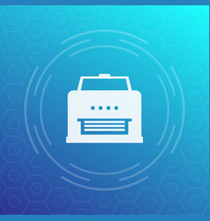 Printer icon pictogram vector