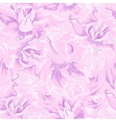 Purple flower seamless pattern vector image vector image