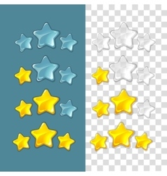 Ranking stars game elements in cartoon vector image vector image