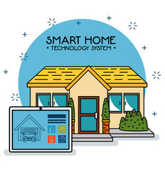 Smart home tecnology system vector