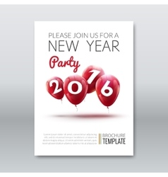 Template invitation new year holiday Holiday card vector image vector image