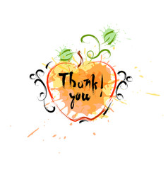 thank you happy thanksgiving day autumn vector image vector image