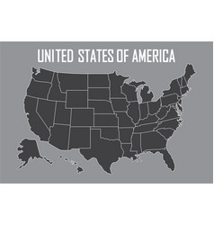 Black White USA Outline Map Royalty Free Vector Image - Usa map black