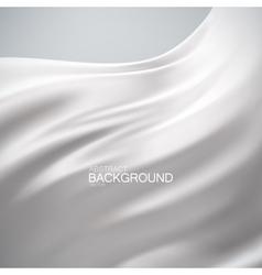 White milky silk fabric vector image