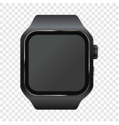 wrist digital watch mockup realistic style vector image vector image