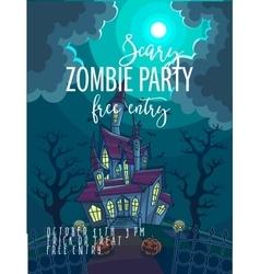 Halloween Party Poster Halloween vector image