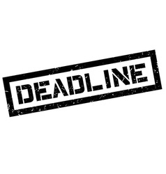 Deadline rubber stamp vector