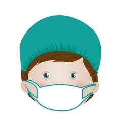 Child with medical doctor costume icon image vector