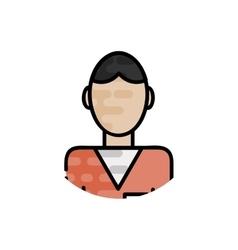 Law flat icon vector image