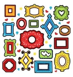 Vintage frames decorative elements for scrapbook vector