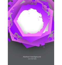 Background with grunge hexagons vector image