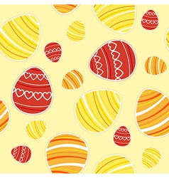 Yellow easter seamless vector