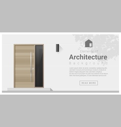 Elements of architecture front door background 1 vector image