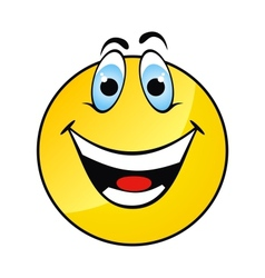 Happy yellow smile face vector