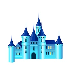 A view of a castle vector image