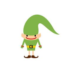 Christmas elf isolated santa claus helper vector