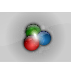 Abstract rgb points vector