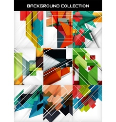 Collection of geometric shape abstract backgrounds vector