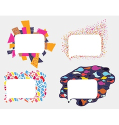 Frames and borders whimsical design vector