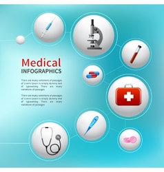 Medical bubble infographic vector image