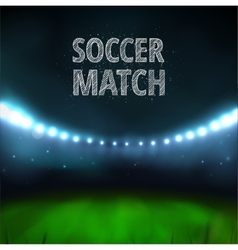 Soccer match vector image
