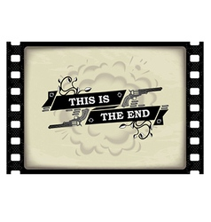 This is the end banner vector image