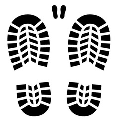 Clean shoe imprint vector