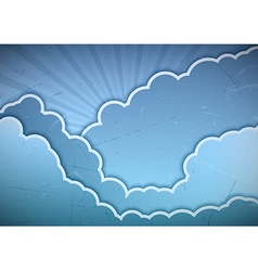 clouds blue vector image